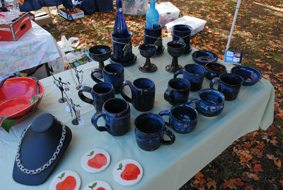Pottery and crafts displayed by Inspired by Indee from Richmond, VA
